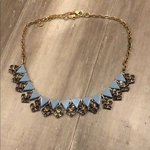 Banana Republic Necklace Robins Egg Blue and Gold